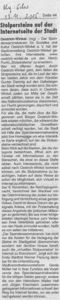 Stolpersteine In Oestrich-Winkel