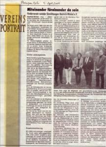 Vereinsportrait aus dem Rheingauecho 15.April 2004