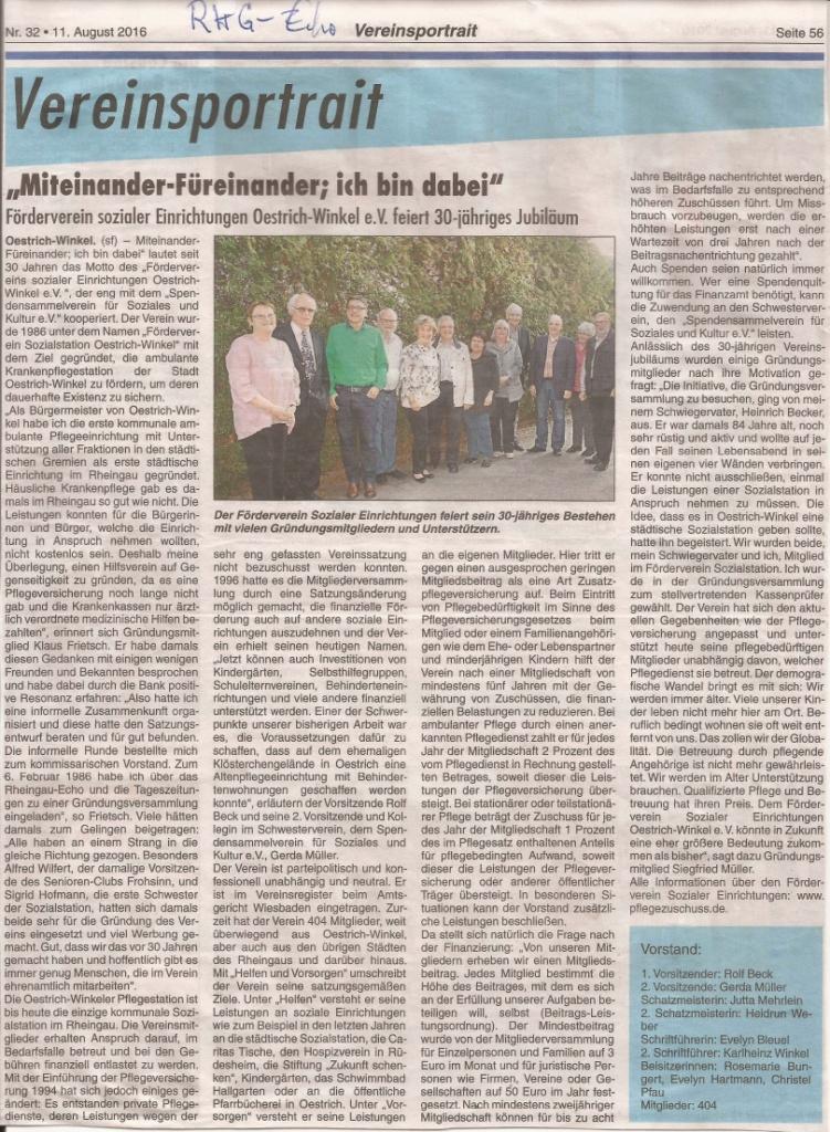 Vereinsportrait 2016 - RheingauEcho