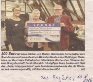 300 Euro für neue Bücher und Medien