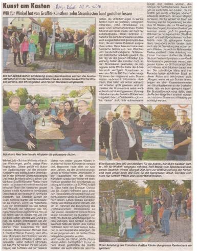 Kunst am Kasten - RheingauEcho 10.11.2016
